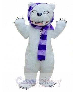 White Beggar Bear Mascot Costumes
