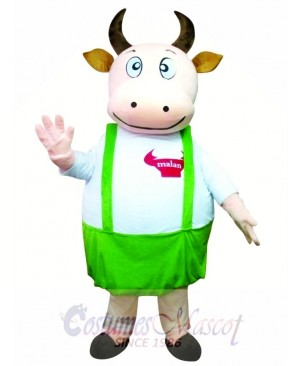 Fat Cow Fancy Cute Dad Cow Mascot Costume