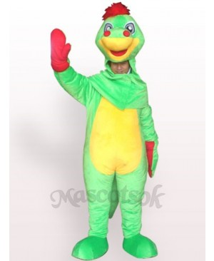 Open Face Dinosaur Plush Adult Mascot Costume