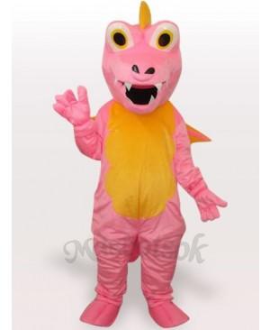 Pink Dinosaur Short Plush Adult Mascot Funny Costume