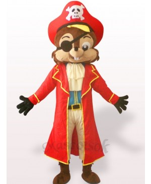 Pirate Squirrel Plush Adult Mascot Costume