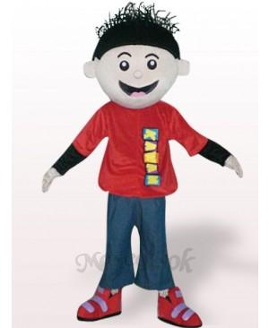 Red Boy Plush Adult Mascot Costume