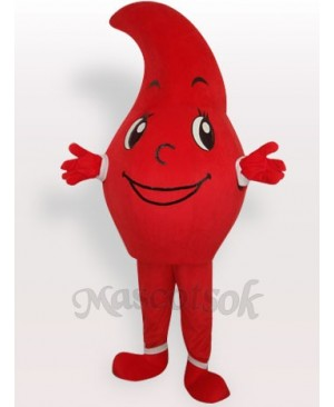 Red Waterdrop Short Plush Adult Mascot Costume