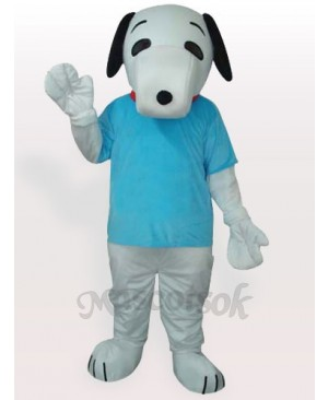Snoopy Dog In Blue T-shirt Adult Mascot Costume
