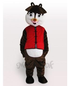 Squirrel Short Plush Adult Mascot Costume