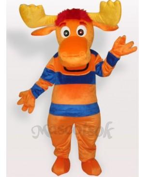 Stripe Deer Short Plush Adult Mascot Costume