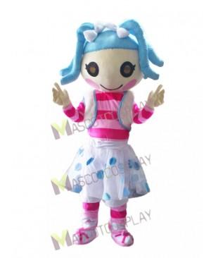 Lalaloopsy Blue Doll Mittens Fluff 'N' Stuff Mascot Costume