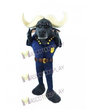High Quality Realistic Chief Bogo Cape Buffalo in Zootopia Movie Mascot Costume