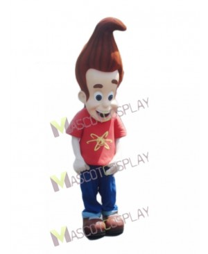 Jimmy Neutron Boy in Orange Shirt Mascot Costume