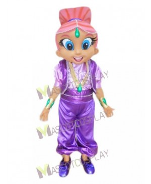 Pink Genie Mascot Costume from Shimmer and Shine
