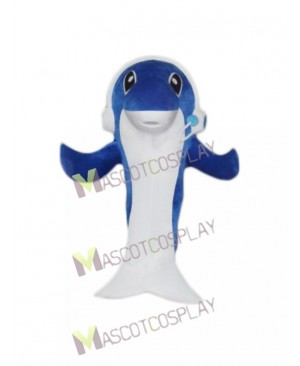 High Quality Music Dolphin Cartoon Mascot Costume