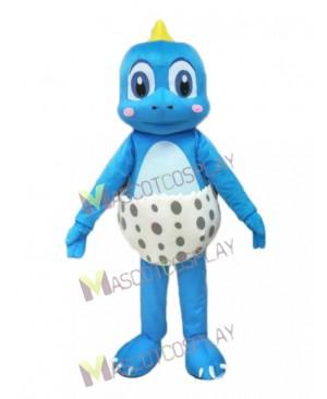 Blue Little Dinosaur Mascot Costume Funny Dinosaur Egg