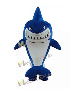 Blue Shark with White Belly Mascot Costume