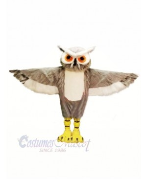 Grey Owl with Big Eyes Mascot Costumes Animal