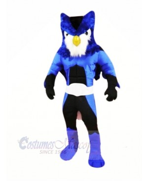 Hero Blue Owl Mascot Costumes Cartoon