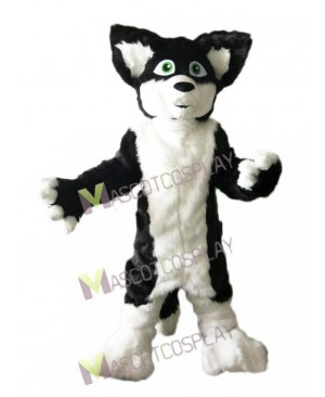 Gray Black and White Husky Dog Fox Mascot Costume