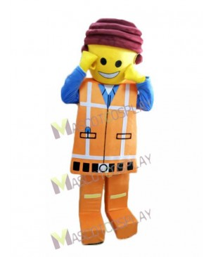 Hot Sale Adorable Orange Lego Building Block Figurine Mascot Costume