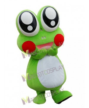 Lovely Cute Cartoon Frog with Big Eyes Mascot Costume