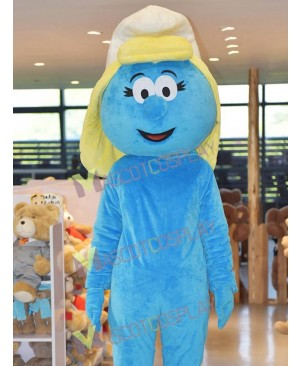 The Smurfs Blue Smurfs Smurfette Mascot Costume