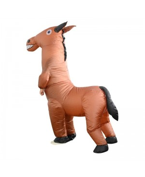 Horse Inflatable Costume Halloween Christmas Fancy Dress Blow up Costume for Adult