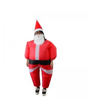 Santa Claus Inflatable Costume Halloween Christmas Xmas Costume For Kid
