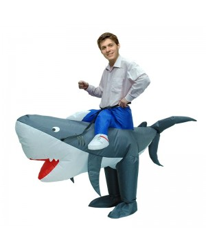 Shark Carry Me Ride on Inflatable Costume Fancy Dress For Adult/Kid