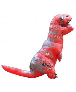 Red Tyrannosaurus T-Rex Dinosaur Inflatable Costume Halloween Xmas for Adult/Kid