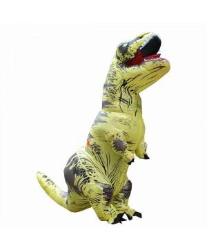 Yellow Tyrannosaurus T-Rex Dinosaur Inflatable Costume Halloween Xmas for Adult/Kid
