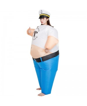 Personal Trainer Inflatable Costume the Sailor Man Cosplay Costume for Adult Female