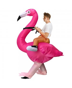 Flamingo Carry me Ride on Inflatable Halloween Xmas Costumes for Adult/Kid