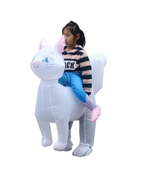 Cat Carry me Ride on Inflatable Costume Fancy Blow up Bodysuit for Child