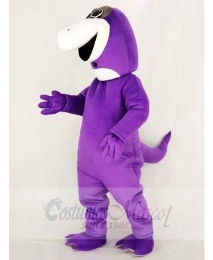 Cute Purple Dinosaur Mascot Costume School