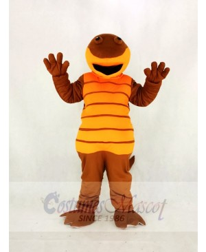 High Quality Adult Orange Billy Salamander Mascot Costume Cartoon