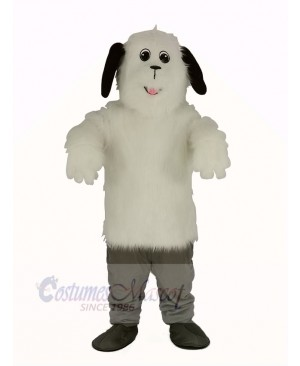 White Shaggy Maggy Dog Mascot Costume Animal