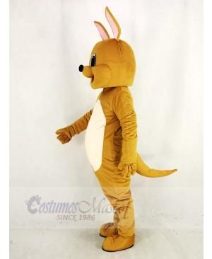 Cute Brown Kangaroo Mascot Costume Animal