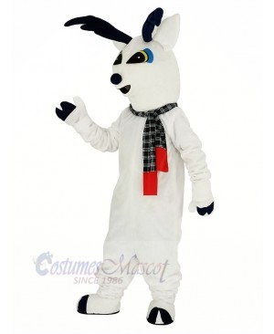 Snow Deer with Scarf Mascot Costume Animal