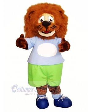 Blue clothes Lion Mascot Costumes Animal