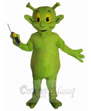 Cute Green Alien Mascot Costume