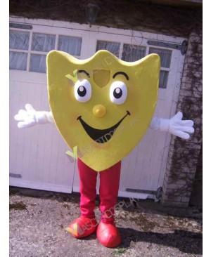 High Quality Adult Yellow Shield Mascot Costume