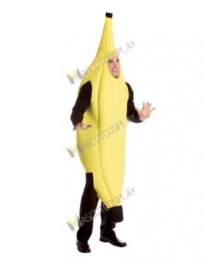 High Quality Adult Fruit Yellow Banana Mascot Costume