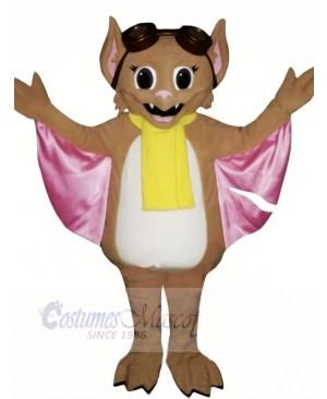 Bat with Yellow scarf Mascot Costumes Animal