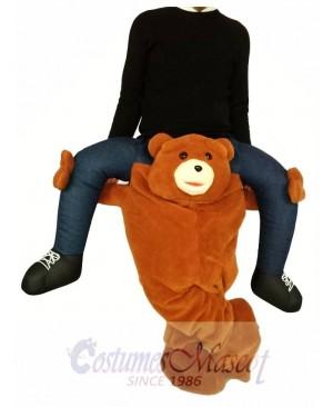 Piggyback Brown Bear Carry Me Ride on Teddy Bear Mascot Costume