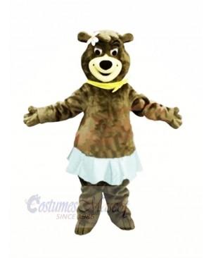 Female Bear with Blue Skirt Mascot Costumes Animal