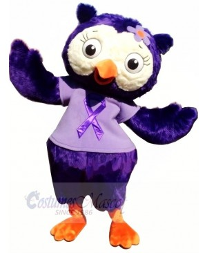 Beautiful Purple Owl Mascot Costumes Animal