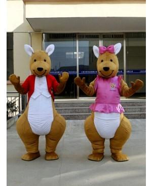 Red or Pink Kangaroo Mascot Costume