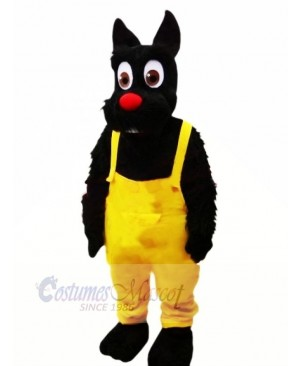 Black Dog with Red nose Mascot Costumes Animal