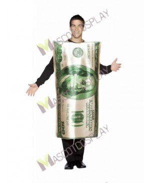 High Quality Adult Bill Note Mascot Costume