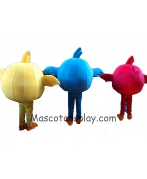 Angry Birds Red Bird Blue Bird Yellow Bird Mascot Costume