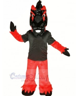 Black and Red Horse Mascot Costumes Animal