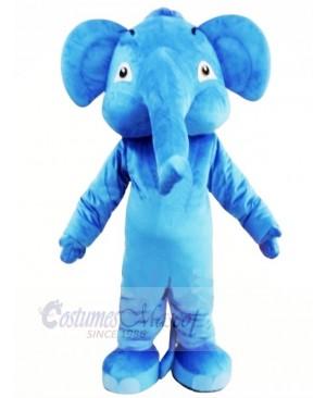 Blue Adult Elephant Mascot Costumes Animal